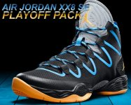 "NIKE AIR JORDAN XX8 SE ""PLAYOFF PACK"" blk/atomic mango-dark powder blu【正規品】【送料無料】"