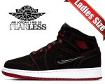 NIKE AIR JORDAN 1 MID FEARLESS(GS) black/gym red-white cu6617-062 ガールズ スニーカー AJ1 ウィメンズ COME FLY WITH ME【正規品】【送料無料】