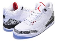 "NIKE AIR JORDAN 3 RETRO NRG ""DUNK CONTEST"" ""WHITE/CEMENT"" white/fire red-cement grey【AJ III フリースローライン ダンクコンテスト MJ マイケルジョーダン 1988】日本正規品 【交換送料無料】"