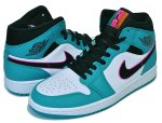 "NIKE AIR JORDAN 1 MID SE ""SOUTH BEACH"" turbo green/black-hyper pink【スニーカー AJ1 サウスビーチ】日本正規品 【交換送料無料】"
