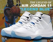 "NIKE AIR JORDAN 11 RETRO ""LEGEND BLUE"" wht/legend blu-blk【正規品】【送料無料】"