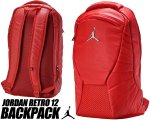 NIKE JORDAN 12 RETRO BACKPACK RED 9a1773-rk2 リュック AJXII カバン バッグ PCスリーブ【正規品】【送料無料】