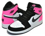 "NIKE AIR JORDAN 1 RETRO HIGH OG GG ""VALENTINE'S DAY"" blk/hyper pink-wht日本正規品 【交換送料無料】"