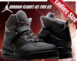 NIKE AIR JORDAN FLIGHT 45 TRK GS blk/blk-city gry日本正規品 【交換送料無料】