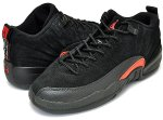 NIKE AIR JORDAN 12 LOW GS blk/max org日本正規品 【交換送料無料】