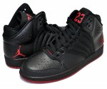 NIKE JORDAN 1 FLIGHT 4 PREM blk/gym red-black日本正規品 【交換送料無料】