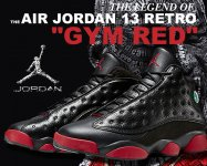 NIKE AIR JORDAN 13 RETRO blk/g.red-blk【正規品】【送料無料】