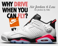 "NIKE AIR JORDAN 6 RETRO LOW ""INFRARED"" wht/infrared 23-blk【正規品】【送料無料】"