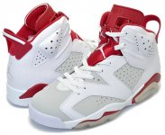 "NIKE AIR JORDAN 6 RETRO ""ALTERNATE"" wht/p.platinum-gym red日本正規品 【交換送料無料】"
