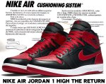 "NIKE AIR JORDAN 1 HIGH THE RETURN ""BRED"" blk/blk-g.red-wht【正規品】【送料無料】"