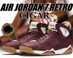 "NIKE AIR JORDAN 7 RETRO C&C ""CIGAR"" t.red/mtllc gold-sl-gm yllw【バスケットボールシューズ】【正規品】【送料無料】"