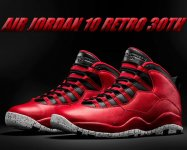 NIKE AIR JORDAN 10 RETRO 30TH gym red/blk-wolf grey【正規品】【送料無料】