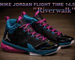 "NIKE JORDAN FLIGHT TIME 14.5 ""Riverwalk"" blk/wht-t.teal-f.pink日本正規品 【交換送料無料】"