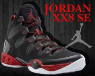 NIKE AIR JORDAN XX8 SE blk/wht-anthracite-g.red【正規品】【送料無料】
