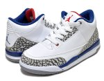 "NIKE AIR JORDAN 3 RETRO BP ""TRUE BLUE"" wht/f.red-t.blu-cement【17cm~22cm】日本正規品 【交換送料無料】"