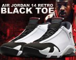 "NIKE AIR JORDAN 14 RETRO ""BLACK TOE"" wht/blk-v.red-m.slv【正規品】【送料無料】"