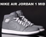 NIKE AIR JORDAN 1 MID cool gry/wht-cool gry日本正規品 【交換送料無料】