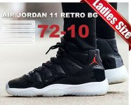 "NIKE AIR JORDAN 11 RETRO BG ""72-10"" blk/g.red-wht-anthracite日本正規品 【交換送料無料】"