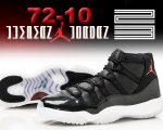 "NIKE AIR JORDAN 11 RETRO ""72-10"" blk/g.red-wht-anthracite日本正規品 【交換送料無料】"