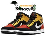 NIKE AIR JORDAN 1 MID SE ROSWELL RAYGUNS black/team orange-amarillo 852542-087 AJ1 ロズウェル レイガンズ【正規品】【送料無料】