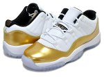 "NIKE AIR JORDAN 11 RETRO LOW BG ""Closing Ceremony"" wht/m.gold-blk日本正規品 【交換送料無料】"