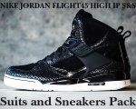 "NIKE JORDAN FLIGHT45 HIGH IP S&S ""Suits and Sneakers"" blk/s.wht-m.gold日本正規品 【交換送料無料】"
