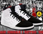 "NIKE AIR JORDAN 1 RETRO '99 ""AJ14"" wht/blk-g.red日本正規品 【交換送料無料】"