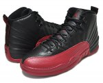 "NIKE AIR JORDAN 12 RETRO """"FLU GAME"" blk/v.red日本正規品 【交換送料無料】"