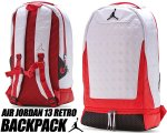 NIKE JORDAN 13 RETRO BACKPACK WHITE/RED 9a1898-001 リュック AJXIII カバン バッグ PCスリーブ日本正規品 【交換送料無料】