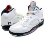 "NIKE AIR JORDAN 5 RETRO ""Olympic"" wht/v.red-m.nvy日本正規品 【交換送料無料】"