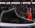 "NIKE AIR JORDAN 1 RETRO '99 ""AJ14"" blk/s.blu-infrared日本正規品 【交換送料無料】"