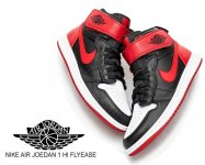 NIKE AIR JOEDAN 1 HI FLYEASE black/black-gym red-white cq3835-001 FEARLESS ONES フィアレス AJ1日本正規品 【交換送料無料】