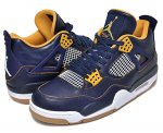 "NIKE AIR JORDAN 4 RETRO ""DUNK FROM ABOVE"" m.nvy/m.gold-.s-gld.l-wh日本正規品 【交換送料無料】"