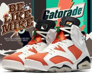 "NIKE AIR JORDAN 6 RETRO ""GATORADE"" summit white/team orange-black【LIKE MIKE エア ジョーダン VI ゲータレード スニーカー】【正規品】【送料無料】"