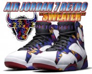 "NIKE AIR JORDAN 7 RETRO ""SWEATER"" wht/unvrsty rd-blk-brght cnc【バスケットボールシューズ】【正規品】【送料無料】"