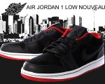 NIKE AIR JORDAN 1 LOW NOUVEAU blk/blk-g.red日本正規品 【交換送料無料】