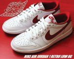 NIKE AIR JORDAN 1 RETRO LOW OG wht/v.red-wht【正規品】【送料無料】