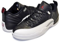 "NIKE AIR JORDAN 12 LOW ""PLAYOFF"" black/varsity red-white【正規品】【送料無料】"