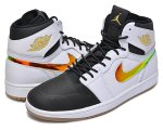 NIKE AIR JORDAN 1 RETRO HI NOUVEAU wht/blk-g.light brown日本正規品 【交換送料無料】