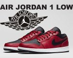 NIKE AIR JORDAN 1 LOW g.red blk/wht【正規品】【送料無料】