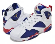 "NIKE AIR JORDAN 7 RETRO BG ""OLYMPIC ALTERNATE USA"" wht/m.gold.cn-dp.ryl.bl-er.r【バスケットボールシューズ】日本正規品 【交換送料無料】"