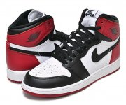 "NIKE AIR JORDAN 1 HI OG BG ""BLACK TOE"" wht/blk-v.red(つま黒)【正規品】【送料無料】"