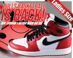 "NIKE AIR JORDAN 1 RETRO HIGH OG BG ""CHICAGO"" wht/blk-varsity red【正規品】【送料無料】"