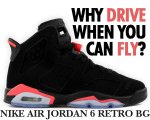 "NIKE AIR JORDAN 6 RETRO BG ""BLACK INFRARED"" blk/infrared23-blk日本正規品 【交換送料無料】"