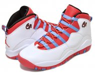 "NIKE AIR JORDAN 10 RETRO BG ""CHICAGO"" wht/l.crimson-u.blu-blk【正規品】【送料無料】"