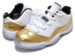 "NIKE AIR JORDAN 11 RETRO LOW ""Closing Ceremony"" wht/m.gold coin-blk【正規品】【送料無料】"