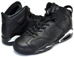 "NIKE AIR JORDAN 6 RETRO BG ""BLACK CAT"" blk/blk-wht【正規品】【送料無料】"