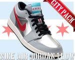"NIKE AIR JORDAN 1 LOW ""CITY PACK-CHICAGO"" wlf gry/gym rd-m.slv-blk日本正規品 【交換送料無料】"
