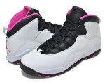 NIKE GIRLS AIR JORDAN 10 RETRO GS p.pltnm/v.pink-blk-v.pink【正規品】【送料無料】