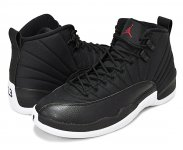 "NIKE AIR JORDAN 12 RETRO ""BLACK NYLON"" blk/g.red-wht【正規品】【送料無料】"